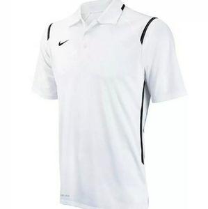 Nike white dri fit polo